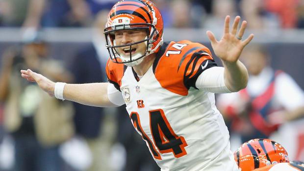 Cincinnati Bengals Andy Dalton flu throw up Houston Texans