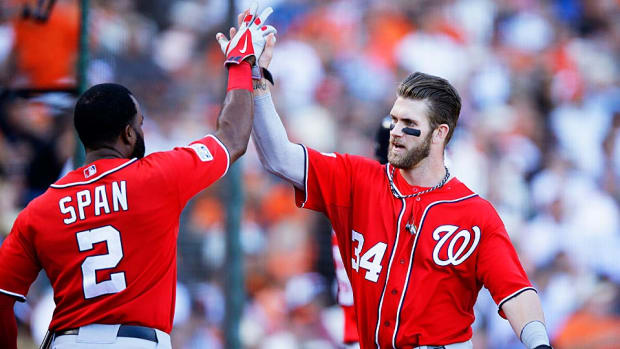 Bryce Harper Denard Span Nationals NLDS Game 3