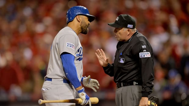 Matt Kemp calls out umpire after Game 3 of NLDS
