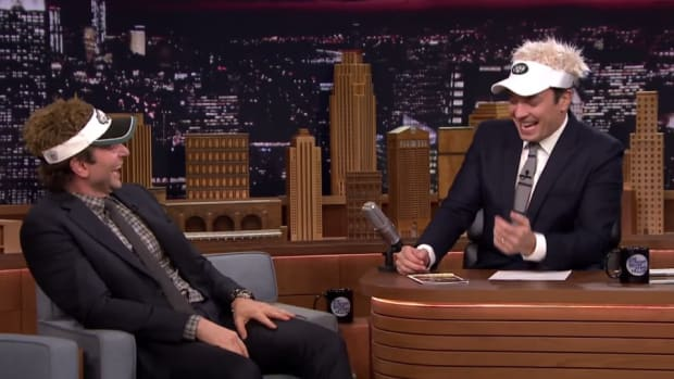 NFL visors derail Jimmy Fallon's Bradley Cooper interview