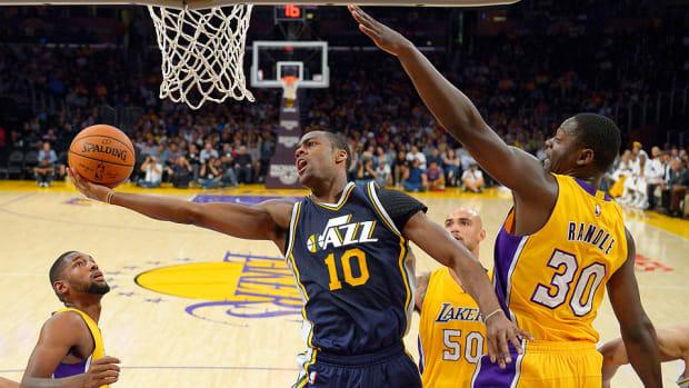 Alec Burks Jazz Lakers