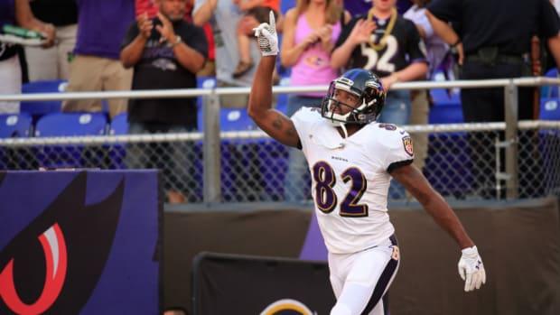 Ravens receiver Torrey Smith