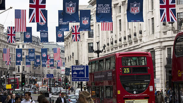 The NFL will play three games overseas in London next season.