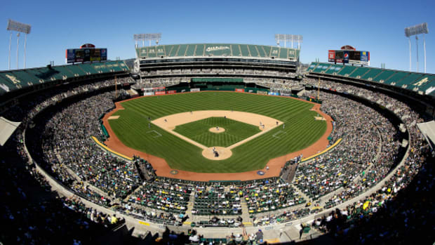 The A's have faced numerous issues at the 47-year-old Coliseum including sewage backups in the clubhouse. The city of San Jose is suing Major League Baseball for refusing to allow the team to relocate. (Ezra Shaw/Getty Images)