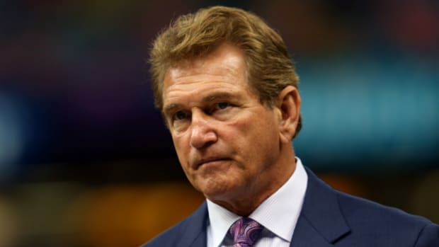 Joe Theismann thinks there's still time for LeBron James to be an NFL quarterback. (Mike Ehrmann/Getty Images)