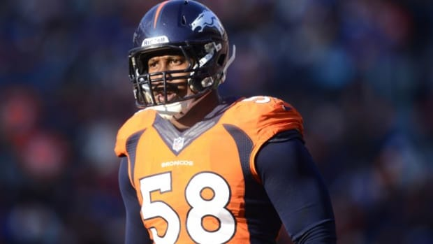 Von Miller will not play again this season. (Aaron Ontiveroz/The Denver Post via Getty Images)