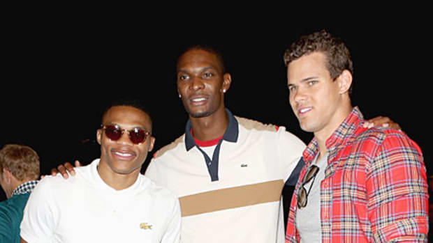 Russell Westbrook, Chris Bosh and Kris Humphries