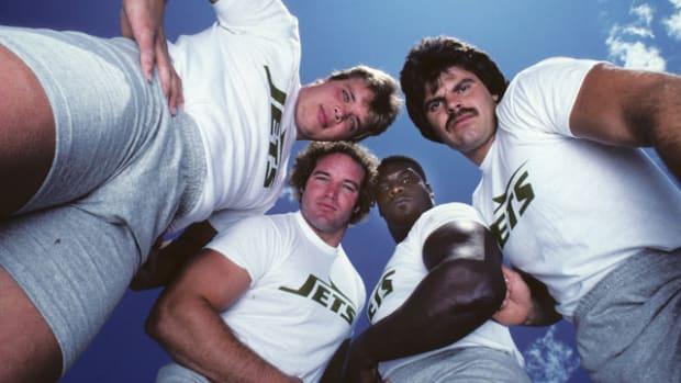 Joe Klecko, Marty Lyons, Abdul Salaam and Mark Gastineau