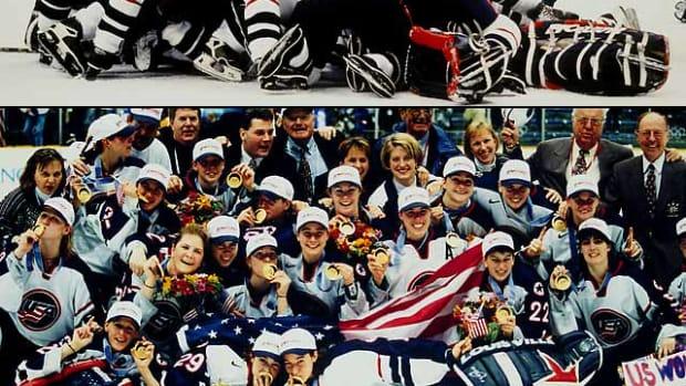 U.S. Women's Hockey Team wins gold in Nagano