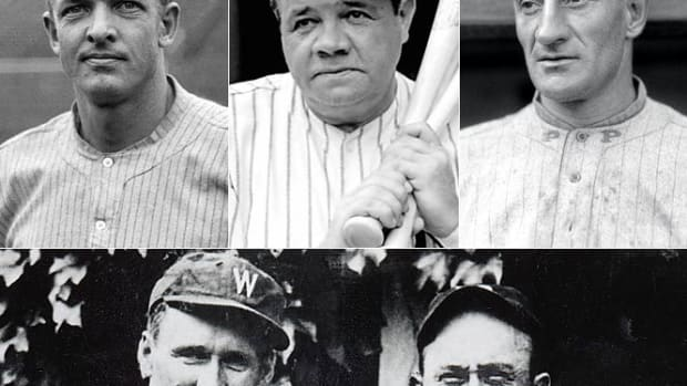 Ty Cobb, Babe Ruth, Honus Wagner, Christy Mathewson, Walter Johnson