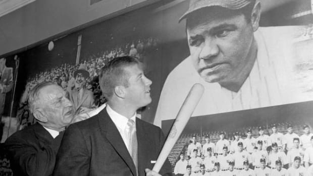 Casey Stengel and Mickey Mantle