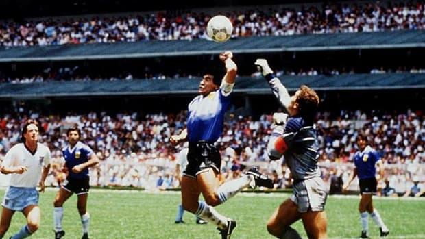 "Diego Maradona's ""Hand of God"""