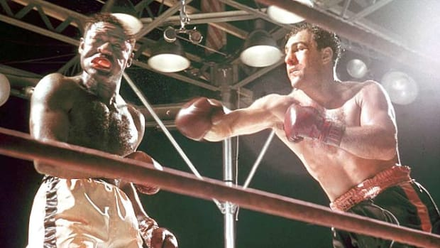 Rocky Marciano and Ezzard Charles
