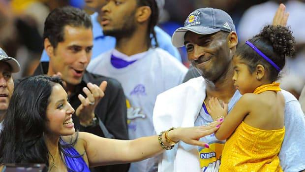 Kobe Bryant, his wife Vanessa and daughter Gianna