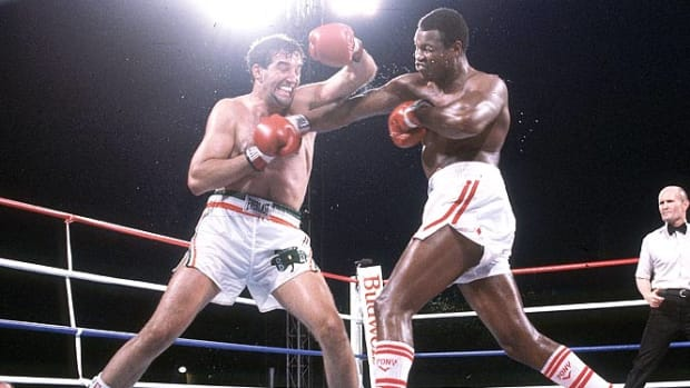 Larry Holmes and Gerry Cooney