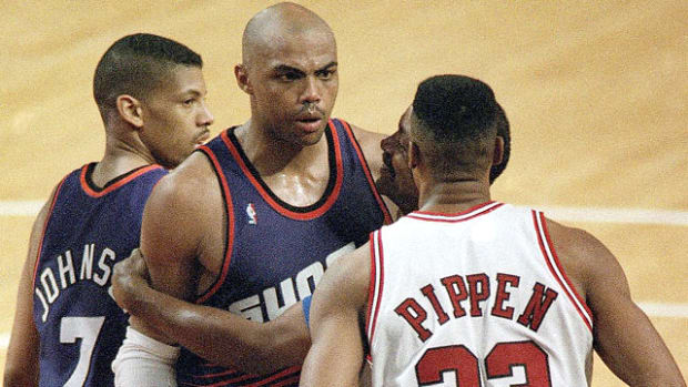 Scottie Pippen and Charles Barkley