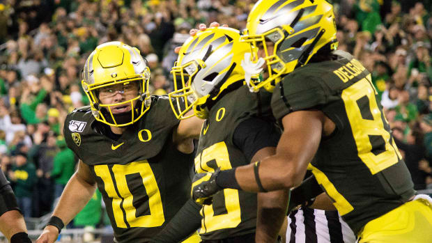 College football bowl projections playoff Oregon