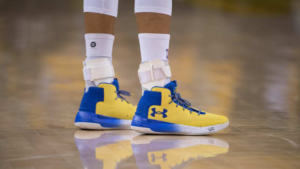 Stephen Curry's Under Armour sneakers