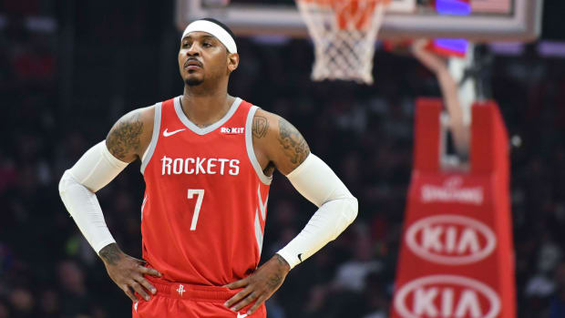 Carmelo Anthony has an opportunity to provide a needed boost to the Portland Trail Blazers.