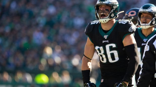 Tight end Zach Ertz could be the player Bill Belichick tries to take away from the Eagles on Sunday.