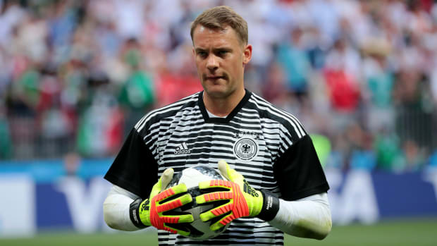 Moscow, Russia, June, 17, 2018. Luzhniki stadium. Manuel Neuer before the football match of FIFA World Cup 2018 between Germany &  Mexico.