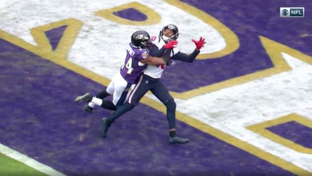 NFL officials did not call a pass interference on a pass attempt to DeAndre Hopkins