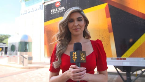WWE's Cathy Kelley taping for NXT