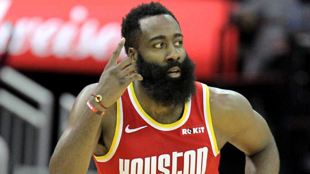 James Harden carrying Rockets out of early-season funk.