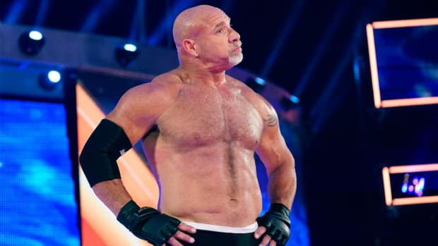 Bill Goldberg after his match against Dolph Ziggler at SummerSlam