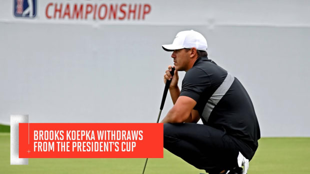 Brooks Koepka Withdraws From The President's Cup