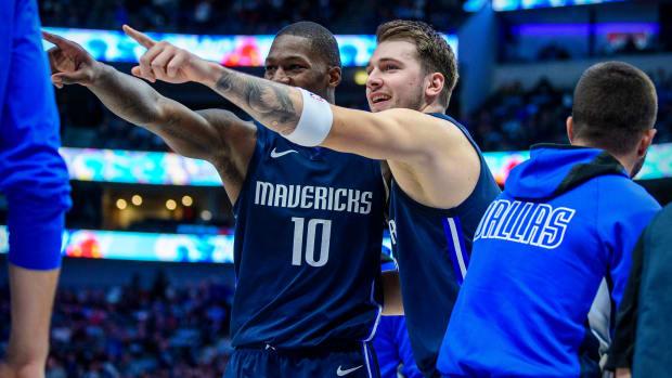 Mavericks' Luka Doncic on the bench