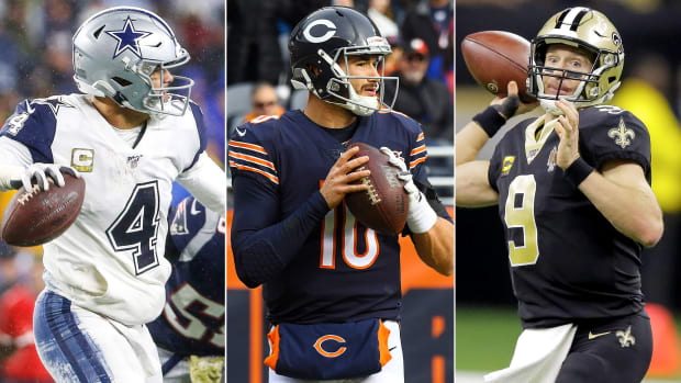 Dak Prescott, Mitch Trubisky, Drew Brees