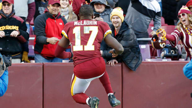 Terry McLaurin Celebrate DET © Geoff Burke-USA TODAY Sports
