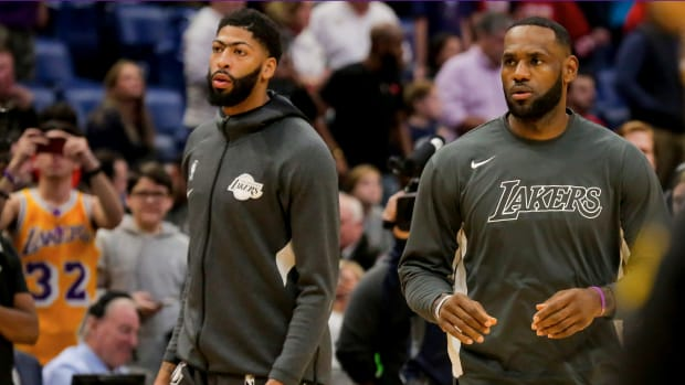 Anthony Davis and LeBron James led the Lakers in Davis' return to New Orleans.