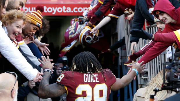 Derrius Guice DET POST © Geoff Burke-USA TODAY Sports