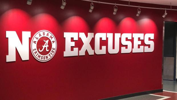 Alabama logo and no excuses