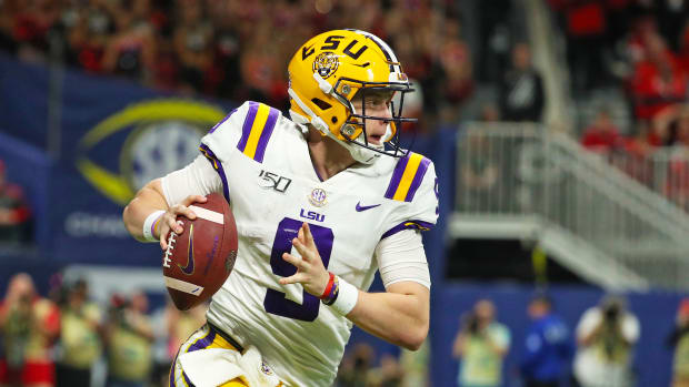 LSU football Joe Burrow vs Georgia