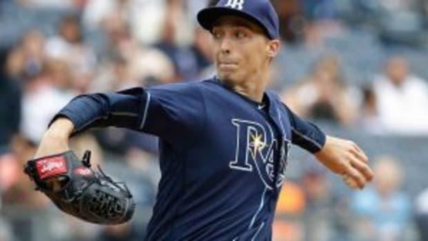 Tampa Bay starting pitcher Blake Snell held the Indians offense to one hit this afternoon.