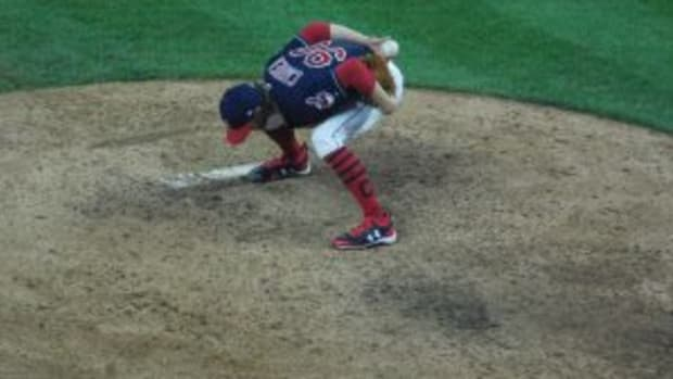 Cleveland Indians relief pitcher Adam Cimber allowed a walk off home run in the 11th inning.
