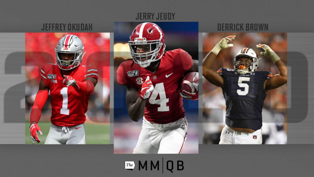 Jeffrey Okudah, Jerry Jeudy, Derrick Brown