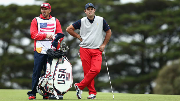Patrick Reed Caddie Altercation Fan