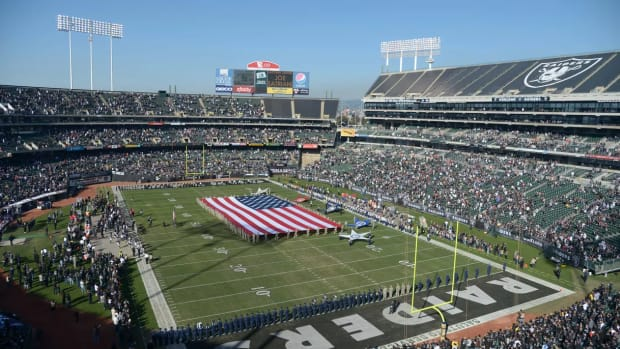 Oakland Coliseum, Kirby Lee, USA TODAY Sports photo