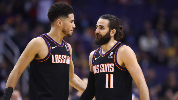 Phoenix Suns Devin Booker and Ricky Rubio