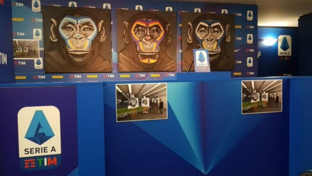 Serie A used monkey paintings as part of an anti-racism campaign