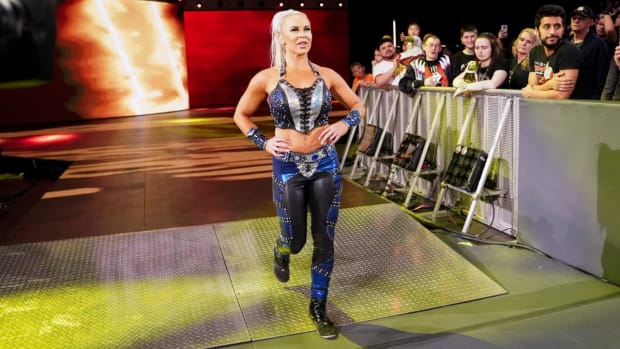 WWE's Dana Brooke makes her entrance