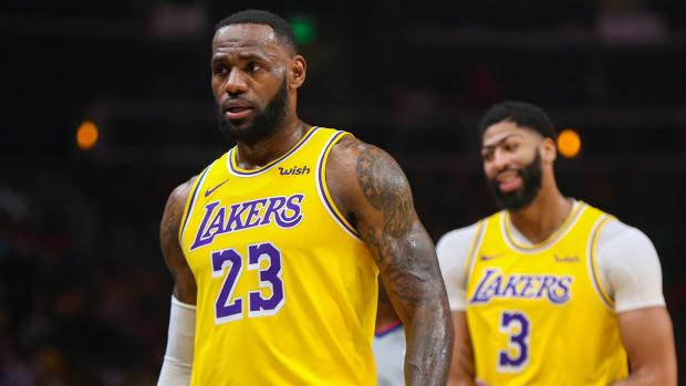 LeBron James doubtful Nuggets