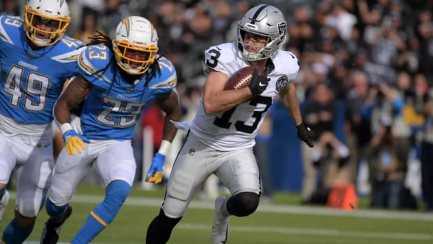 Hunter Renfrow, Raiders Touchdown USA TODAY Sports photo by Kirby Lee