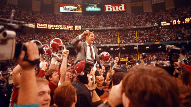 Gene Stallings was carried off the field after winning the 1992 national championship