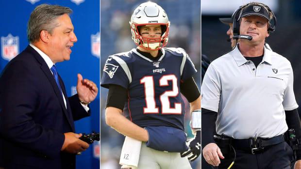 Al Riveron, Tom Brady, Jon Gruden