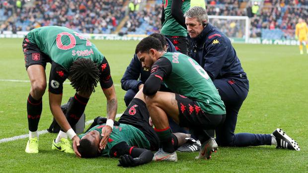 Aston Villa loses striker Wesley to injury